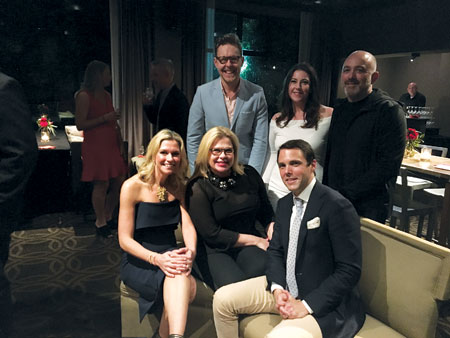 Clockwise from top left: Eddie Ross, Rachel Daunais, Barrie Livingstone, David Sprouls, Alexa Hampton and Michelle Newbery at The Mine launch party at the Proximity Hotel in Greensboro, N.C.