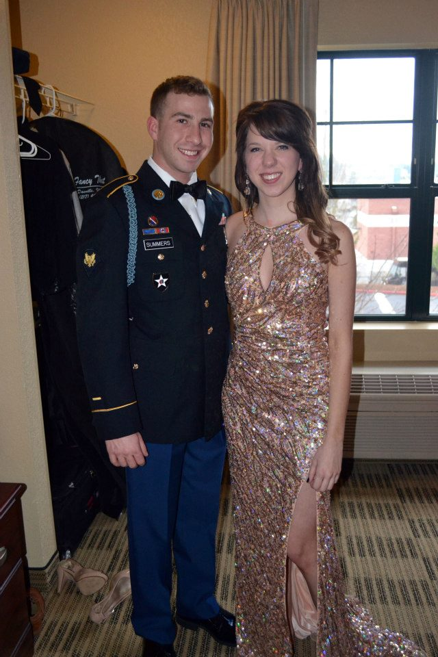 5. Three months after, my then boyfriend, returned from Afghanistan, we got engaged!