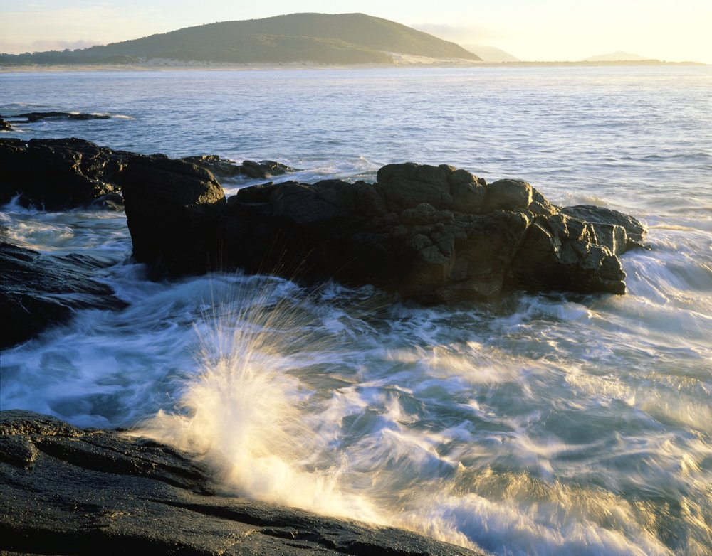 Tomaree waves on rocky shore.jpg