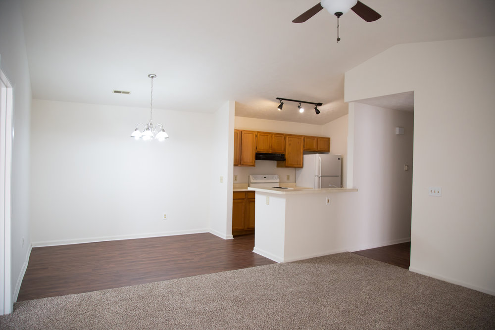 Adjoining Kitchen, Dining, & Family Room