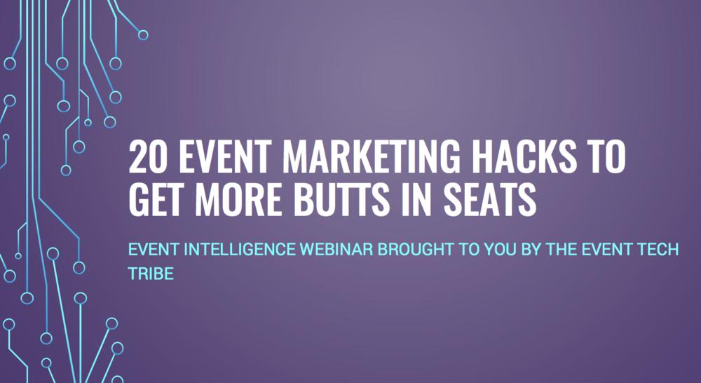 event marketing hacks