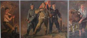 Hans Schmitz-Wiedenbruck:  Workers, Peasants, and Soldiers  (1940) –   Source