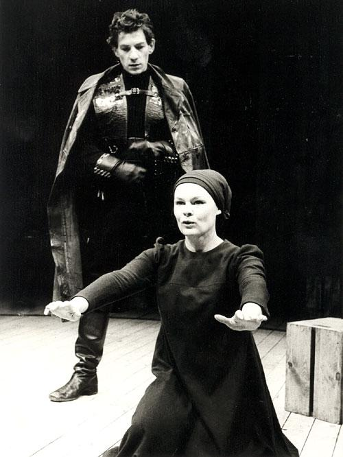 Sir Ian McKellen and Dame Judi Dench in the 1978 Royal Shakespeare production of Macbeth –  Source