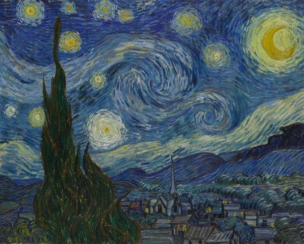 The Starry Night . c. 1889