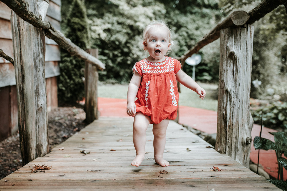 Shoes off, dirt on her toes, little Hannah, independent and beautiful…