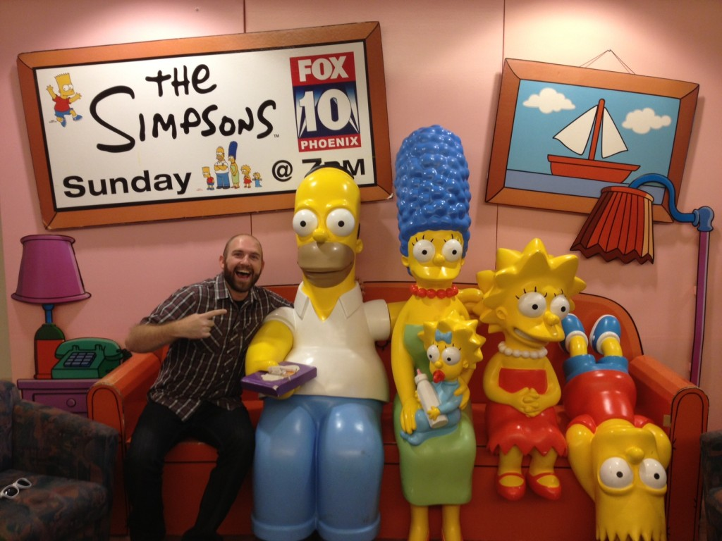 In the front lobby they have a real life Simpsons model!!!! So legit!!!!!!!!