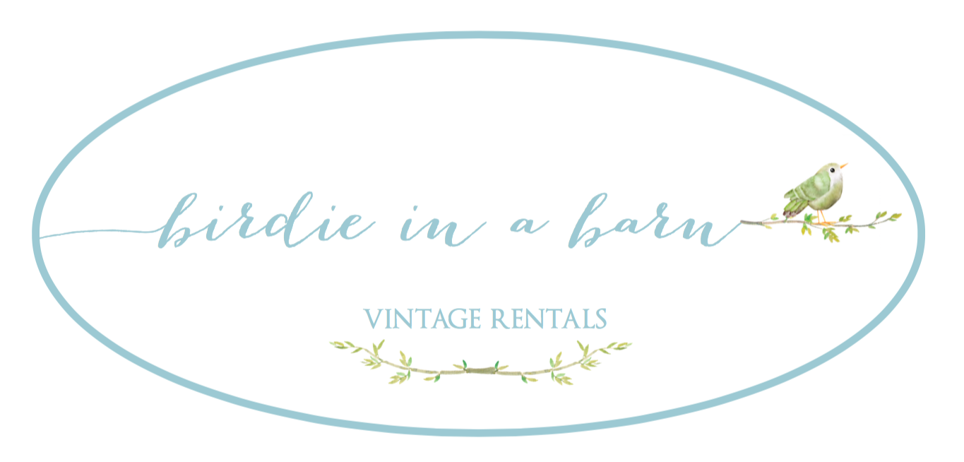 Birdie in a Barn | Vintage Event Rentals |Murrieta CA