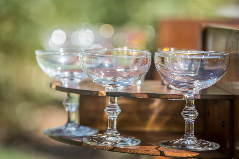 classic coupes in a vintage mid-century modern bar