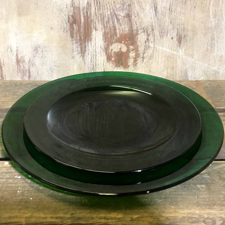 Emerald green libby glass dishes. True mid-century modern and vintage.