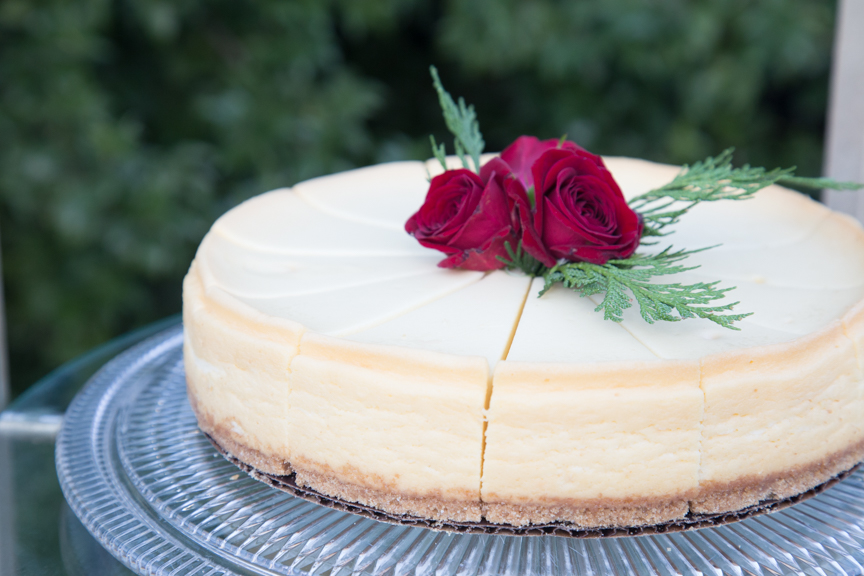 cut glass cake plates with cheesecake on it.