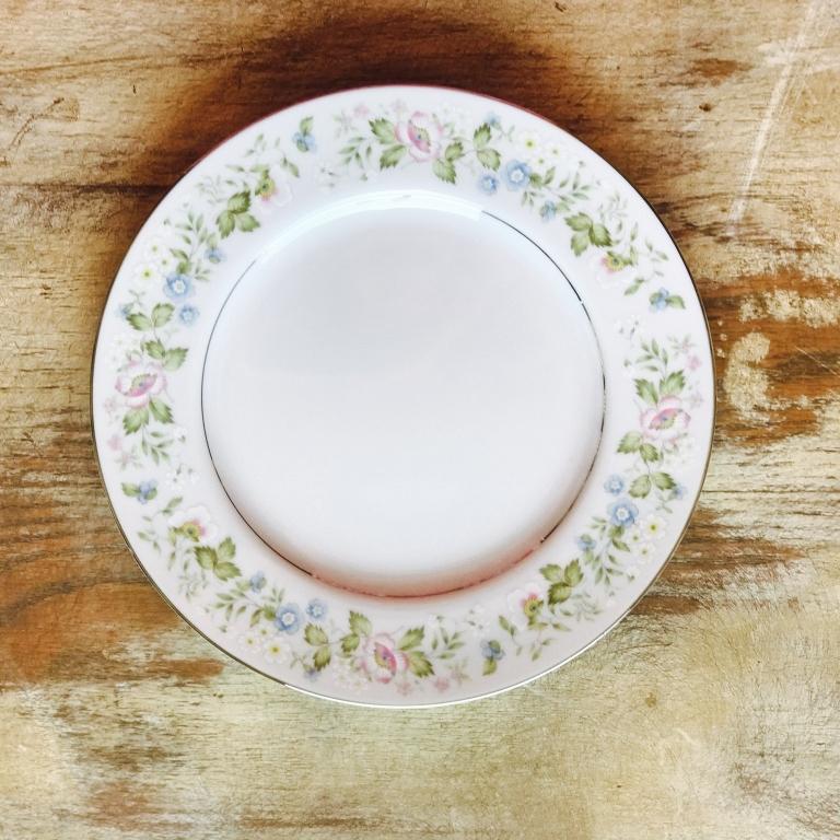 """Floral China Salad or Dessert Plate.    7""""-8"""" Salad or Dessert Plate. Mismatched."""
