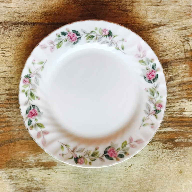 "Floral China Bread or Appetizer Plate.    6""-7"" Bread or Appetizer Plate. Mismatched."