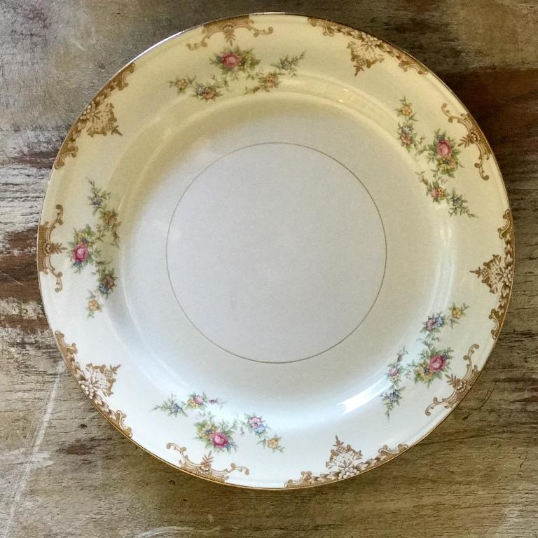 "Hazelnut China Dinner Plate.    10""-11"" Dinner Plate. Mismatched."