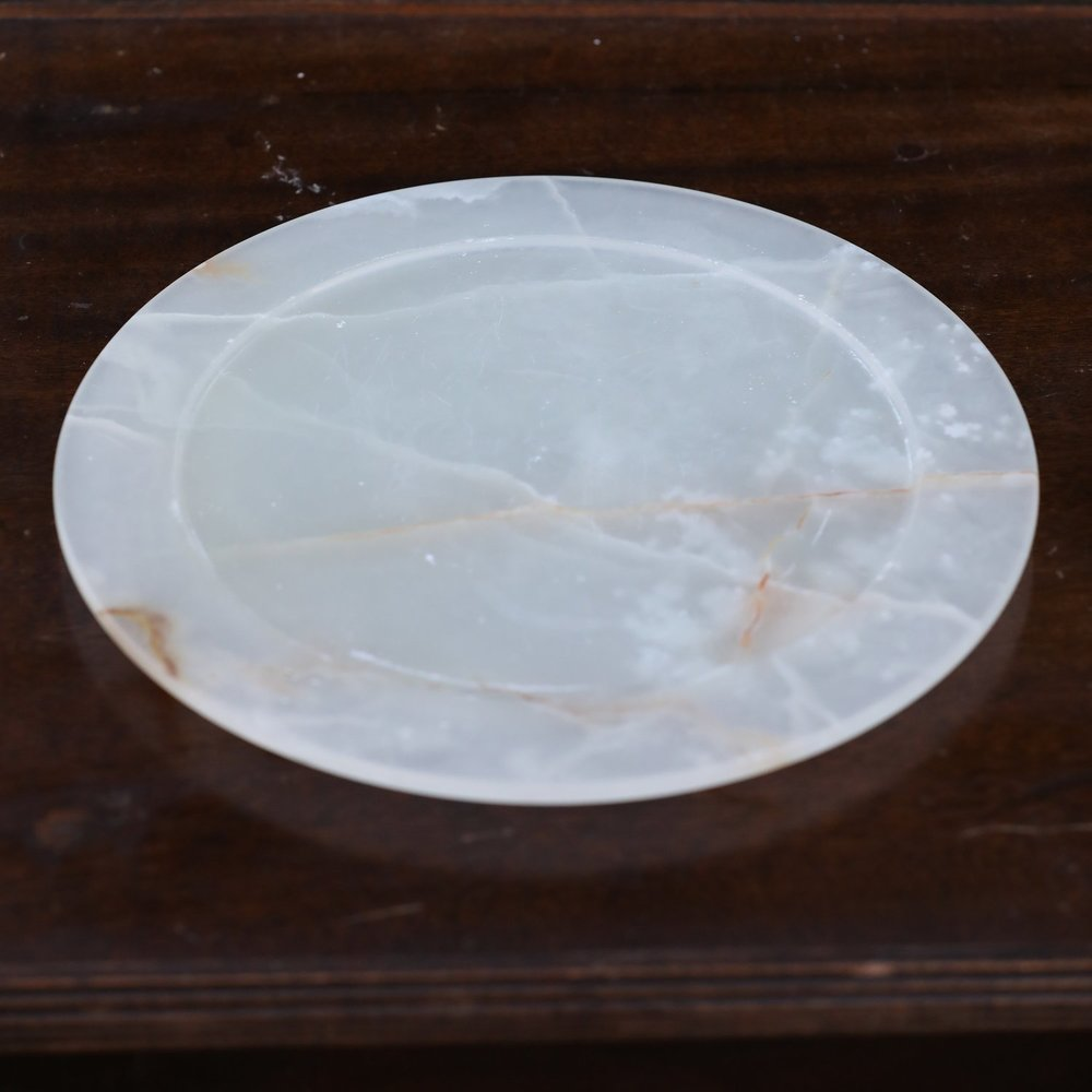 """Granite Charger Plate.    13"""" plate. Natural stone so colors are varied."""