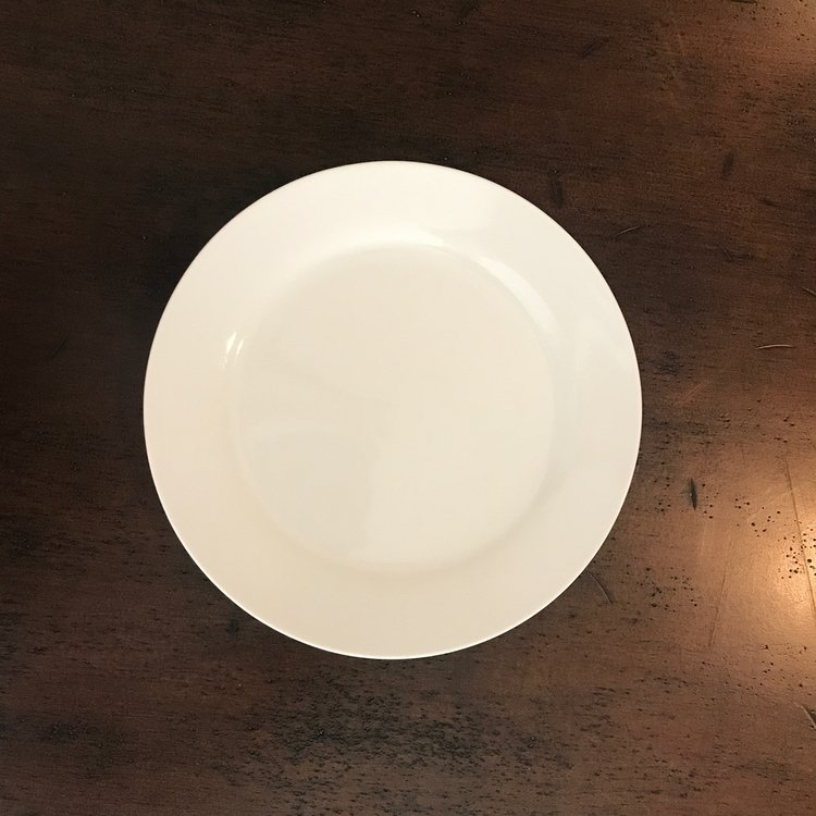 "Classic White Dinner Plate   10.5"" Dinner Plate. China."