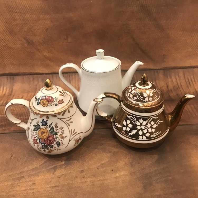 English Tea Pots   Mismatched.