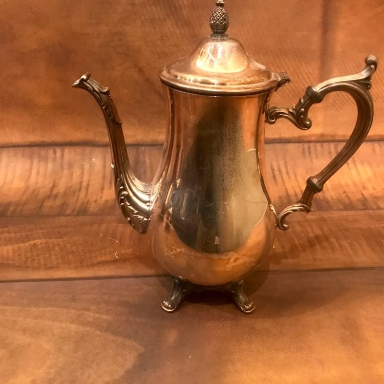 Silver Plated Coffee or Tea Pot   Mismatched. Polished or Shabby Chic