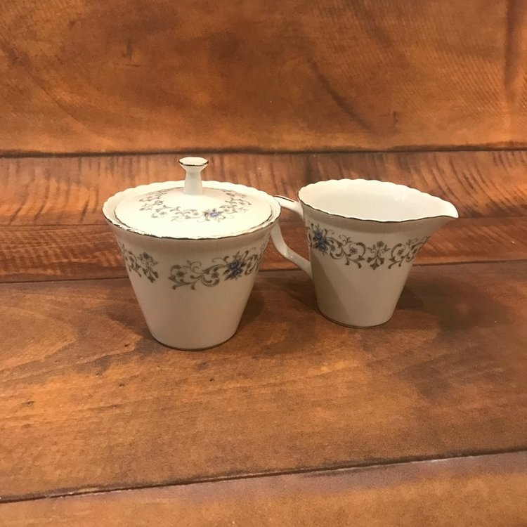 China Cream and Sugar Sets   Perfect for any coffee bar or tea party.  Individual patterns of vintage china all mismatched for that Boho or Shabby Chic look.