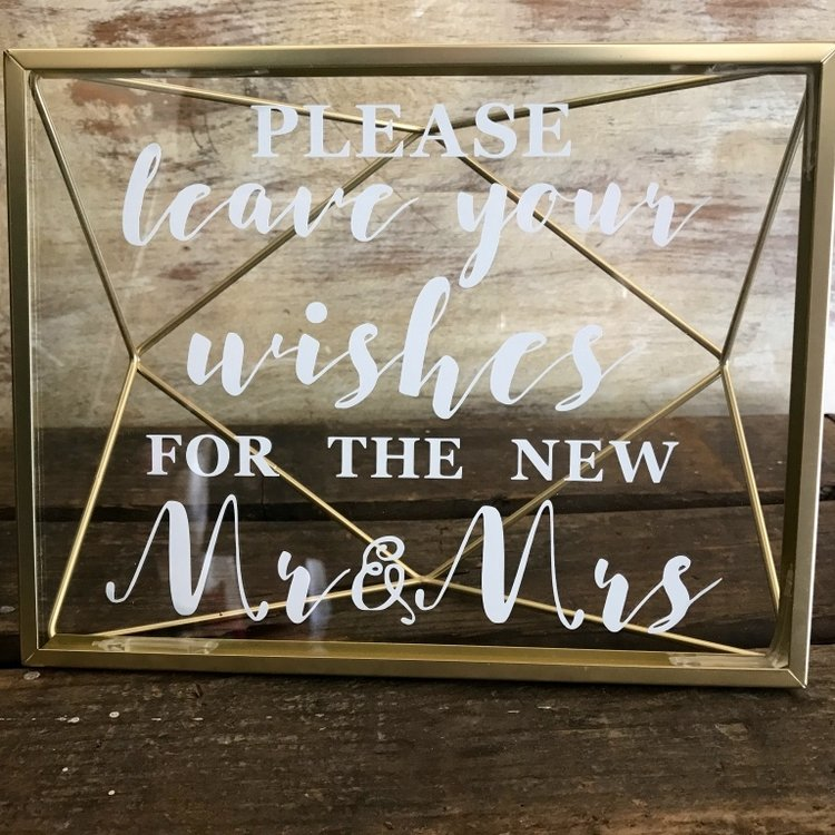 Geometric Wishes Sign