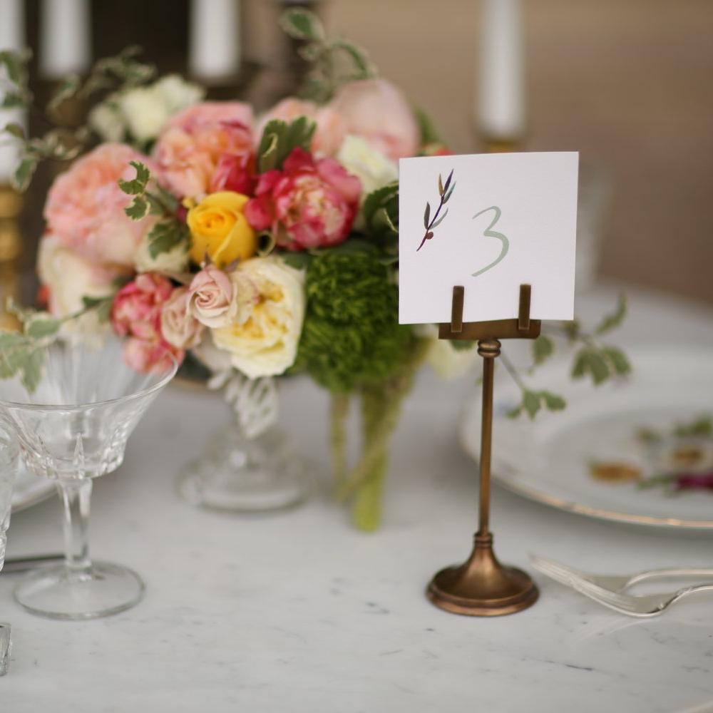 Brass Table number holder.