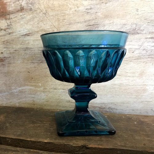 Blue Goblets   Mismatched.  All shades of blue.