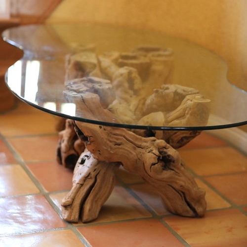 Brutus   Original mid-century modern grapevine table. Kidney shaped heavy glass tabletop . So unique