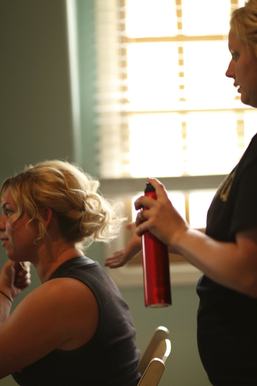 Looks like lots of Big Sexy Hair product was used as these bridesmaids got ready for the wedding and wedding reception.