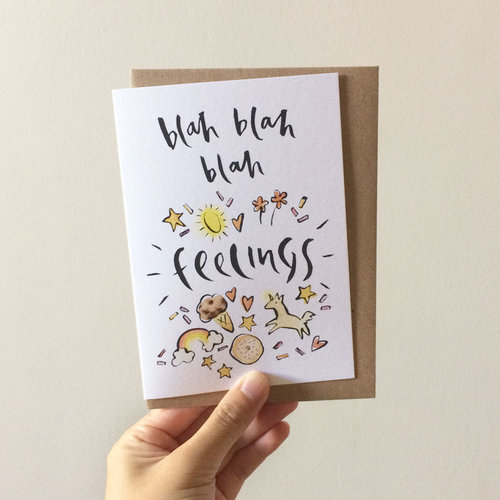 Greeting cards doris chang illustration little sister co blah blah feelings greeting card m4hsunfo