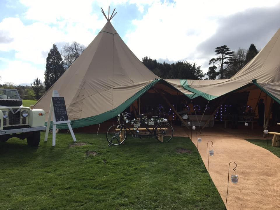Adlington Hall TiPi Open Day Wedding Rustic Vintage Outdoors