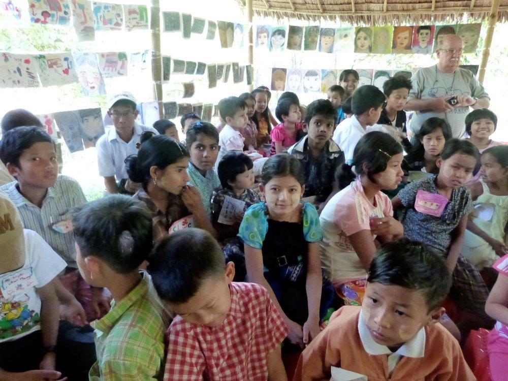 Village Art Exhibit 2015- Burma