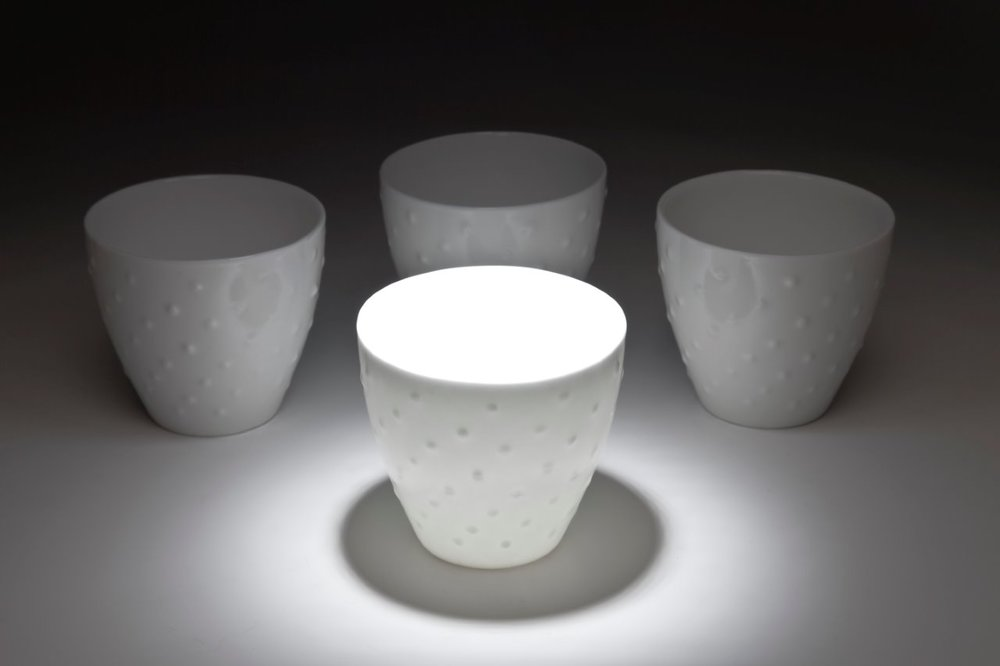 Bone China cups, 7cm high, Photo credit Uffe Schultze
