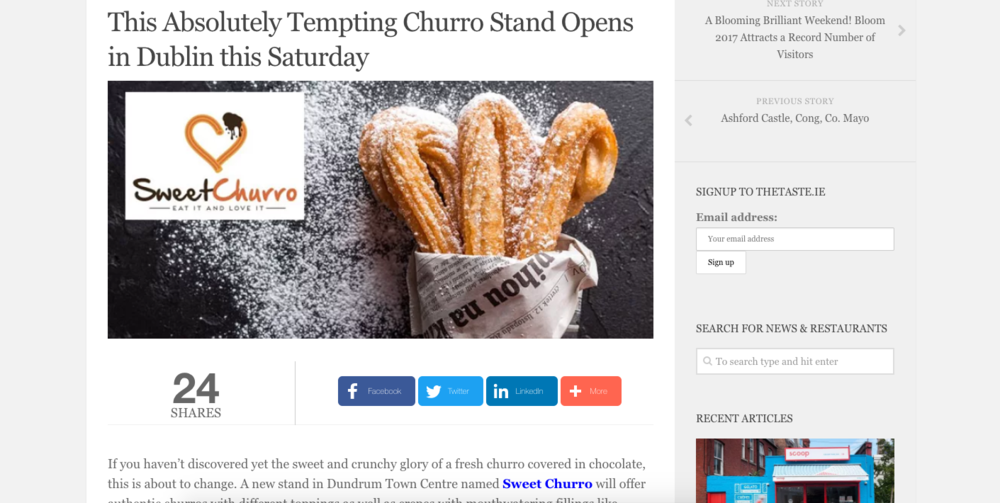taste.ie and churros