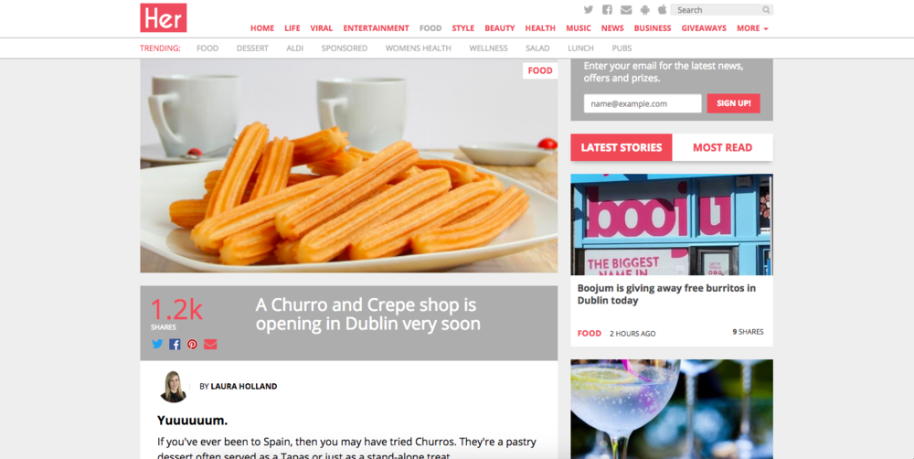 her.ie sweet churros