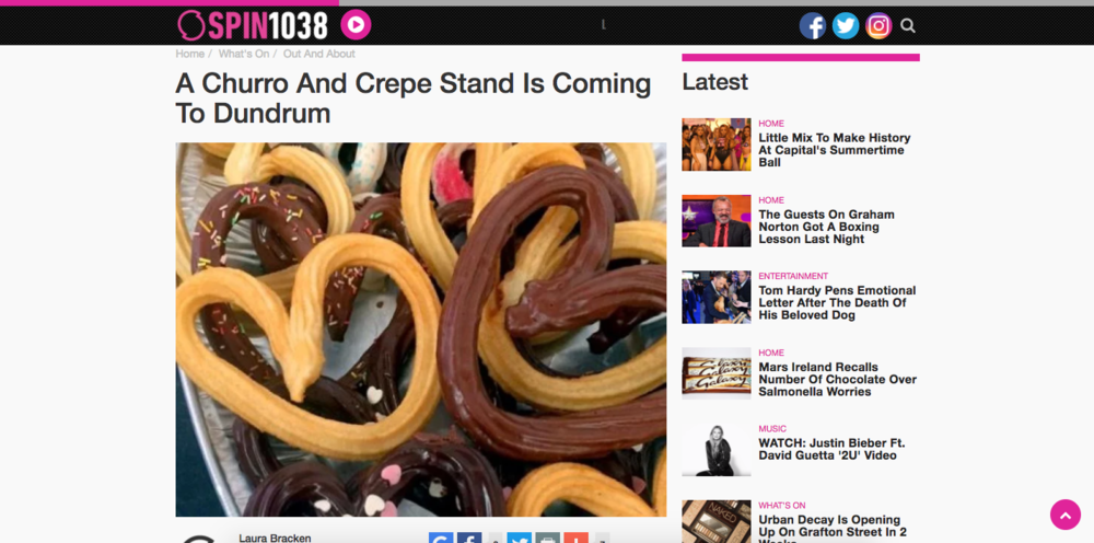 spin1039 and sweet churros