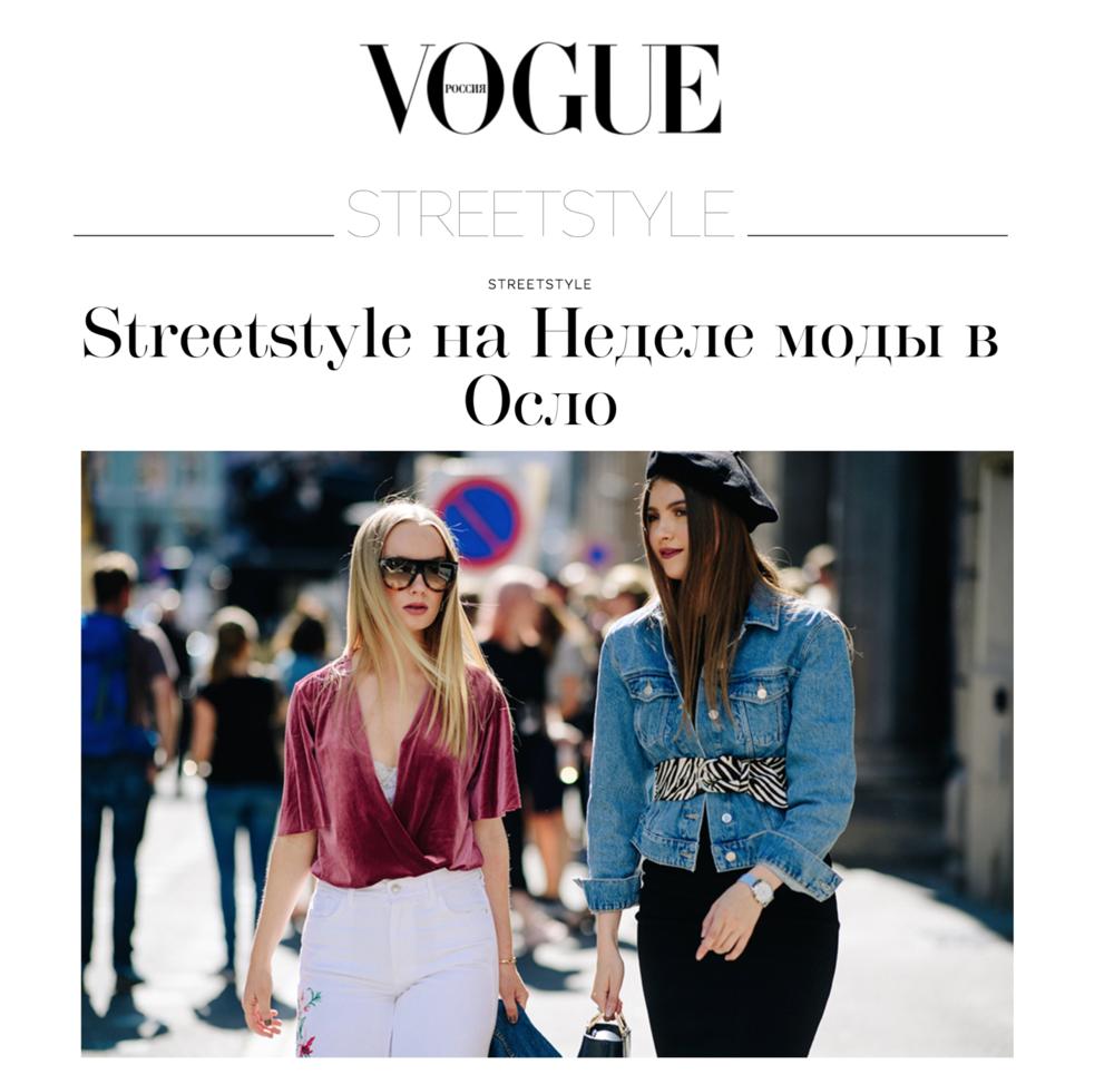 "Vogue Russia ""Oslo Fashion Week SS18"" Photo by Adam Katz Sinding"