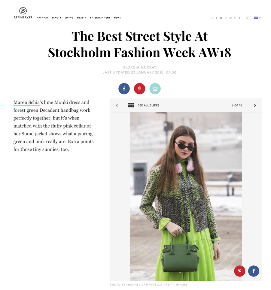 "Refinery 29 ""The Best Street Style At Stockholm Fashion Week AW18"" by Georgia Murray. Photo by Getty Images"