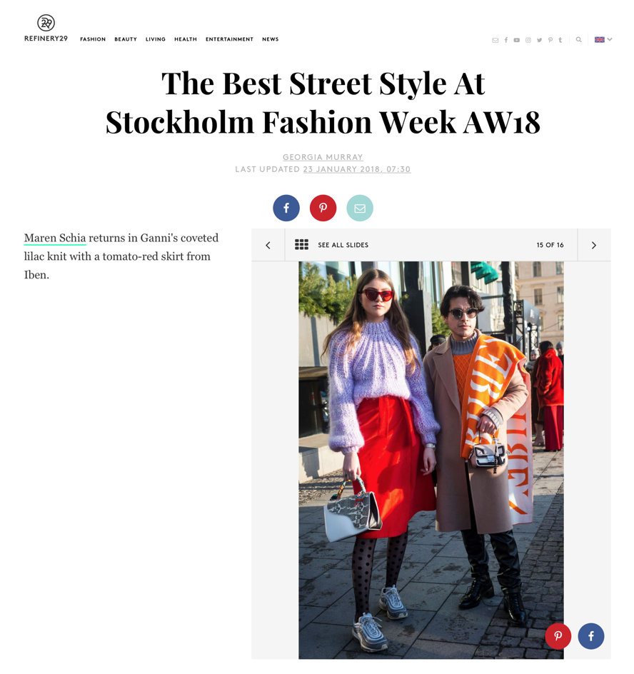 "Refinery 29 ""The Best Street Style At Stockholm Fashion Week AW18"" by Georgia Murray. Photo by Getty Images."