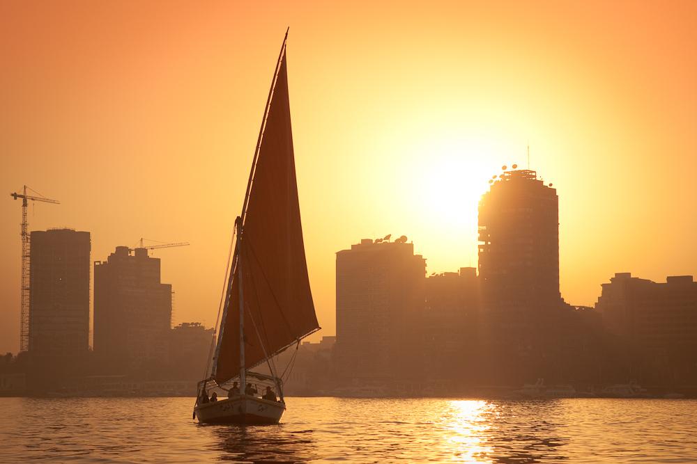 Feluca on the Nile, Cairo