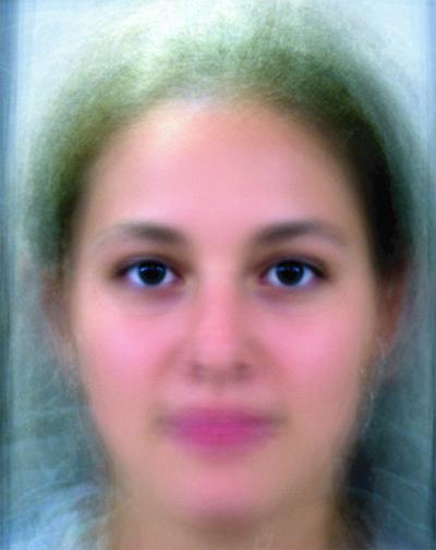 Average female face