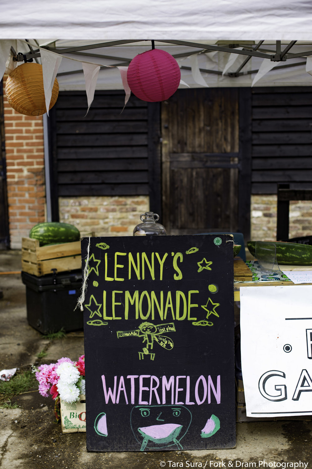 THE FOOD GATHERER  SERVES... LENNY'S LEMONADE (FOR LOMBOK)     Find out about upcoming Food Gatherer's food events and enjoy some welcome refreshment with water melon slices and Lenny's Lemonade which is being sold in aid of the relief work on the island of Lombok,  recently hit by earthquakes.     http://www.thefoodgatherer.com/       Photo: Tara Sura/ fork and Dram