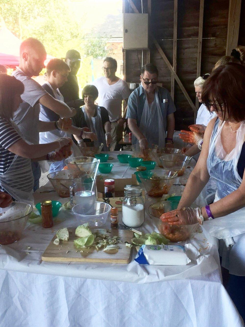 Eat Live's Kimchi workshop
