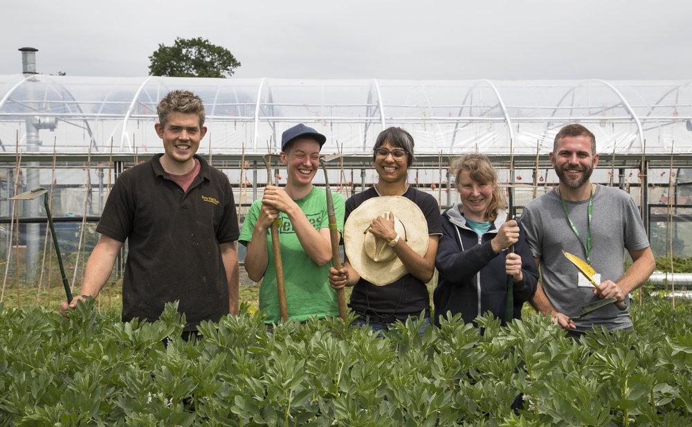 Matthew (left) and his hardworking Market Garden team