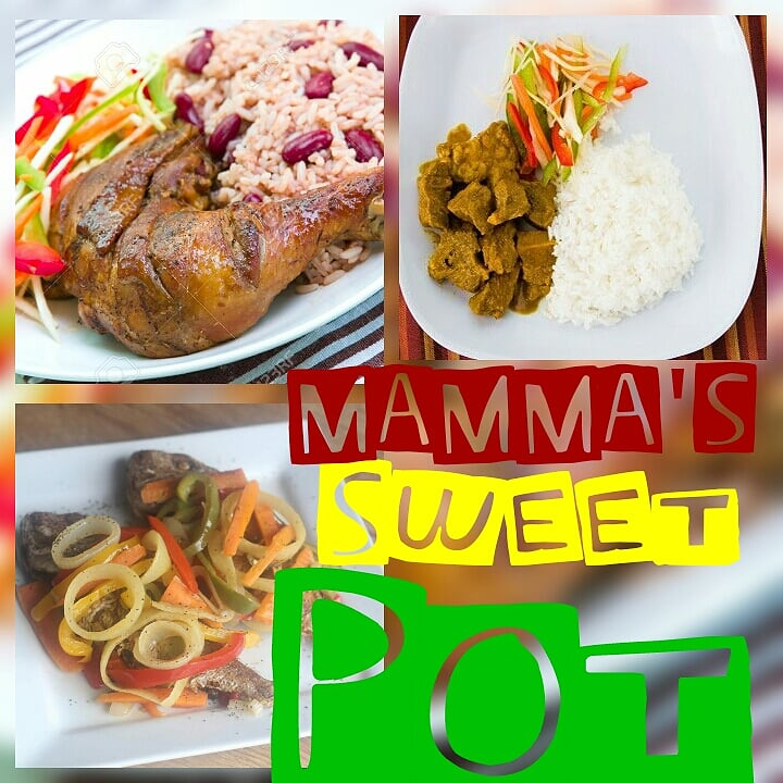 MAMMA'S SWEET POT  A taste of Jamaica with ...  Jerk Chicken , Curry Goat, Ox Tail, Rice & Peas , Boiled RIce ,Jamaican Patties and home Made Natural juices - vegetarian options available    https://www.facebook.com/mammassweetpot/