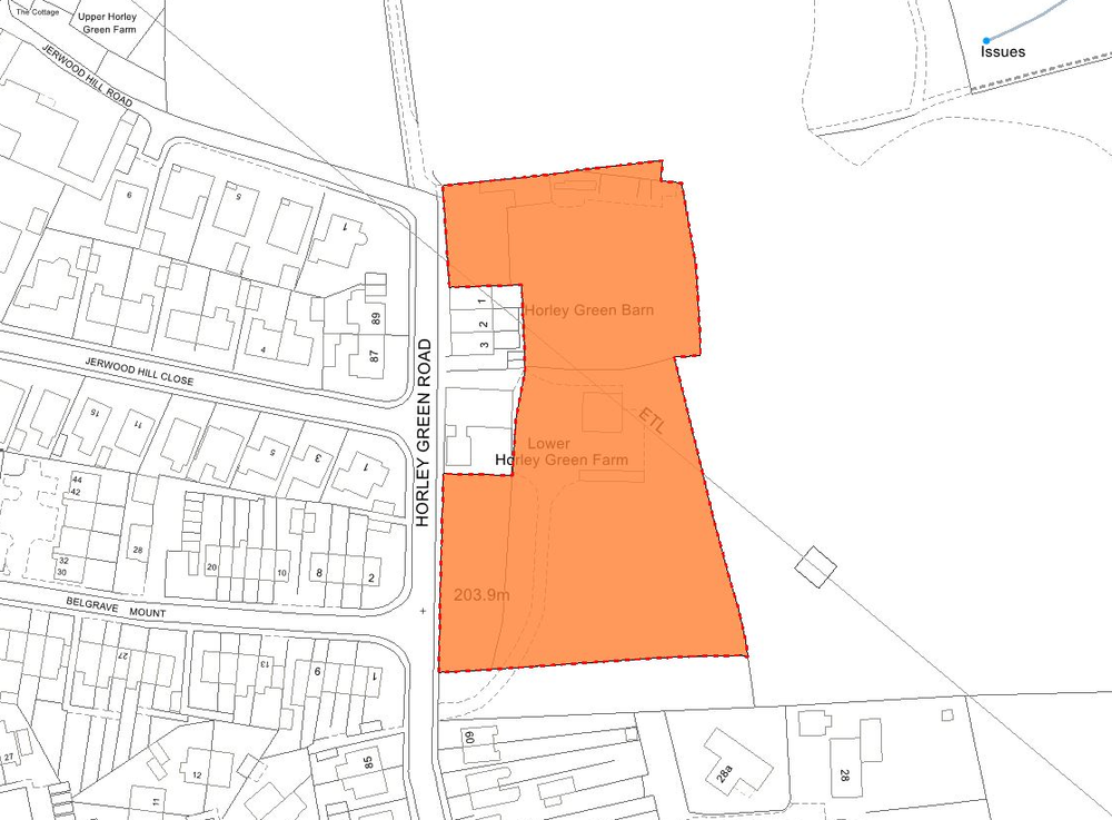 Site marked by a RED dotted line
