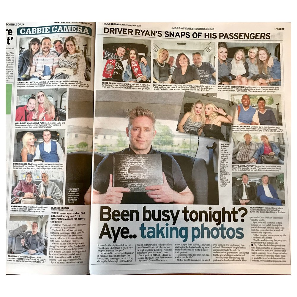 Daily Record Tuesday 1st Auguts 2017