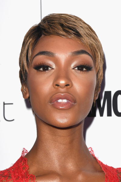 Jourdan Dunn's honey-blonde pixie cut
