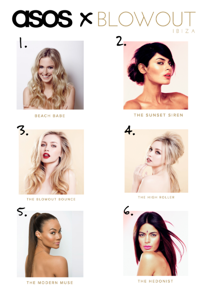 We picked 6 of our best-selling hair & beauty looks from the last 3 years and compiled them them into a unique looks menu for the ASOS team.