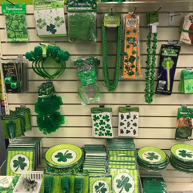 Stop in and gear up for the parade! Happy St. Patrick's Day. #bakerspharmacy #jamestownri #stpatricksday #greengold #liveyourbest