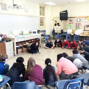 Powerful Peers - Middle school students from Manitowoc, Wisconsin worked with Laura Baron, a dynamic speaker from Los Angeles, California, uncovering the importance of connectivity in community and the power of being a positive peer. The students engaged in group exercises, learned the significance of supporting those in need, as well as the negative consequences of bullying.