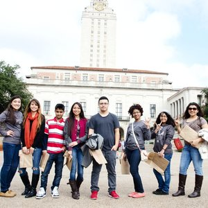 "College Campuses Crew - The college aspiring high school Eagle Scholars of Dallas, Texas spent a weekend touring both University of Texas and University of Texas San Antonio campuses, interacting with college students, staying in dormitories, and previewing their future experiences in true ""college visit"" fashion. They were able to ask their potential peers questions about navigating all facets of university life; like managing tuition, discovering scholarship opportunities, participating in clubs, and juggling both academic and social life. Additionally, they toured the River Walk in San Antonio, and reflected on their experience on Mount Bonnell, during which gratitude was expressed for the opportunity to discern the differences in the campus cultures that would best contribute to their overall success after high school."